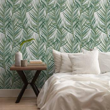 Light Tropical Leaves Peel-&-Stick Wallpaper