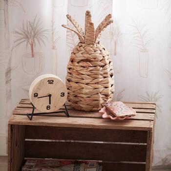 Ananas décoratif tressé en jacinthe naturelle