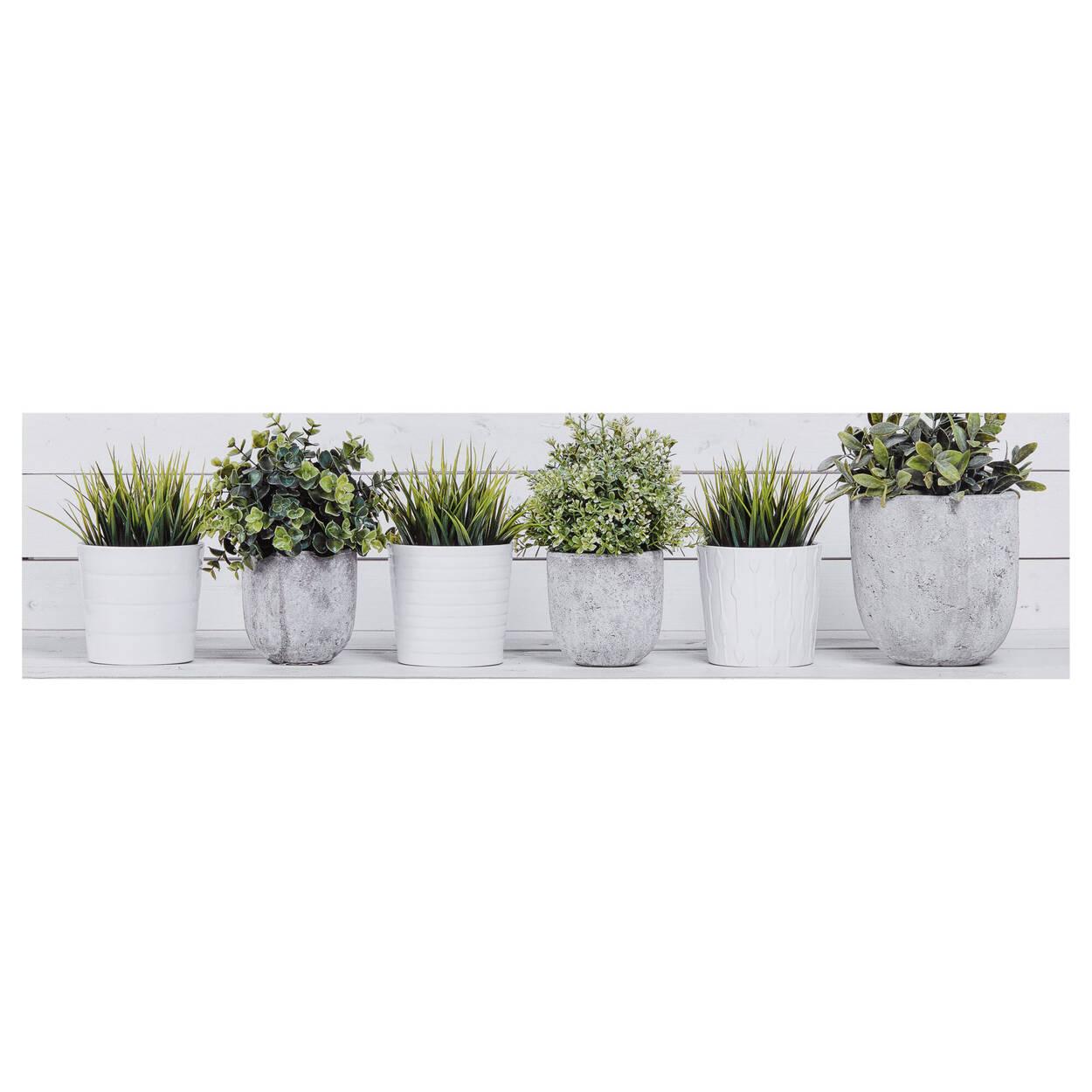 Tableau imprimé plantes en pot