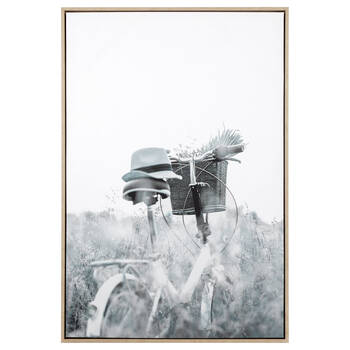 Bicycle in Field Framed Art