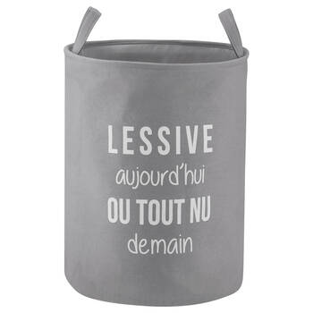 Laundry Typography Hamper