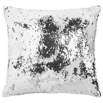 "Sparkling Sequined Decorative Pillow 18"" X 18"""