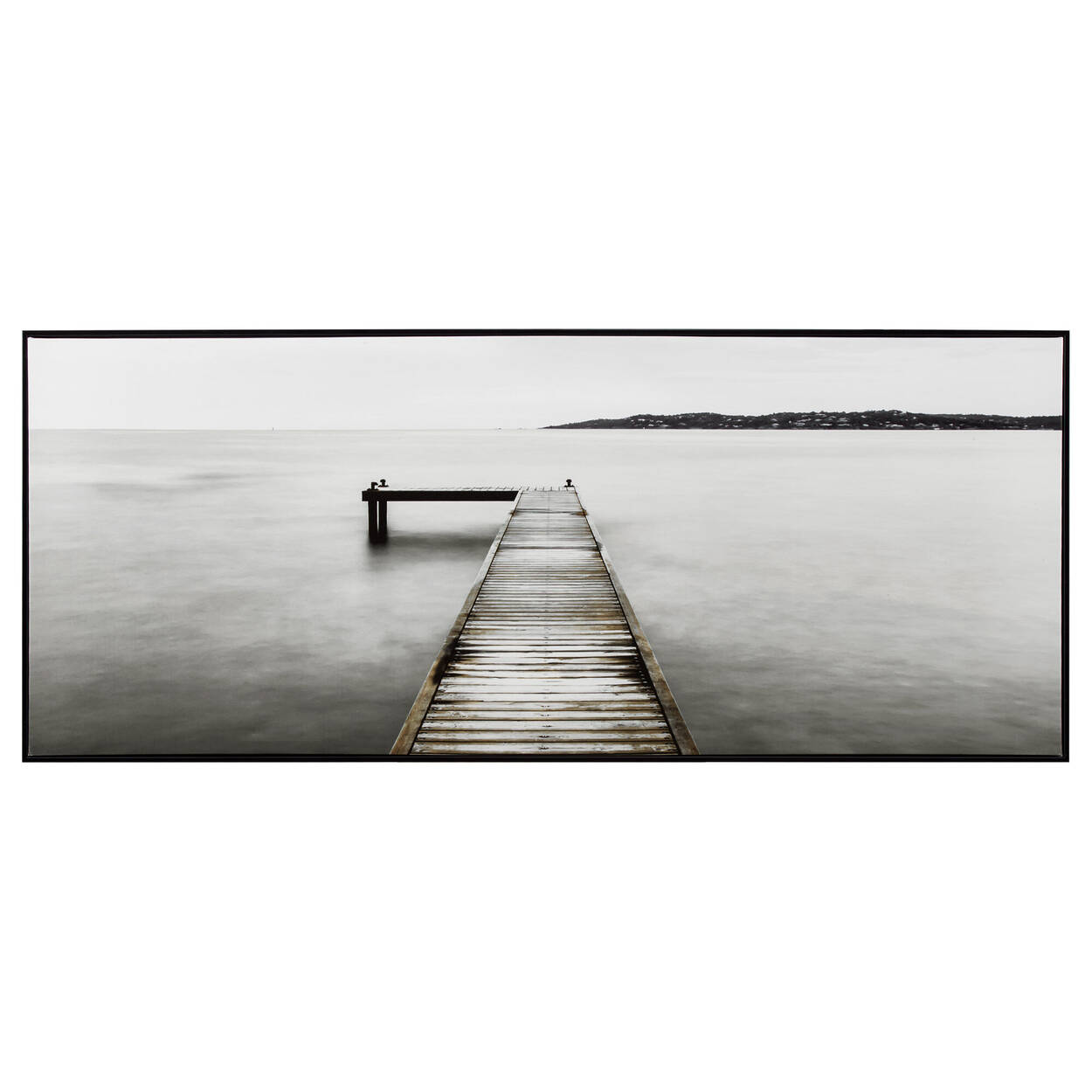 Calm Water Dock Printed Framed Art