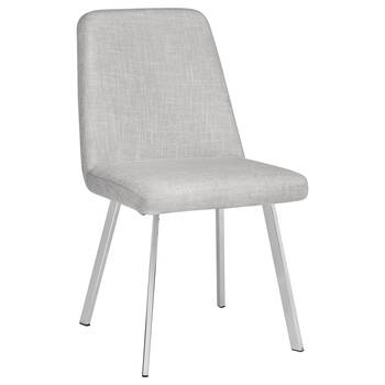 Chita Fabric Dining Chair with Iron Legs