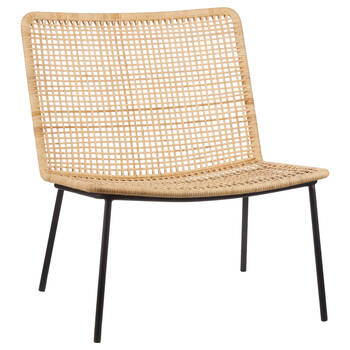 Caned Rattan Lounge Chair