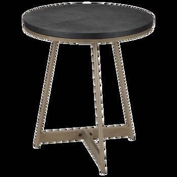 Table d'appoint en placage et en bronze