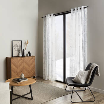 Metallic Leaf Sheer Curtain
