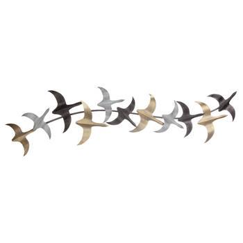 Art mural vol d'oiseaux en métal