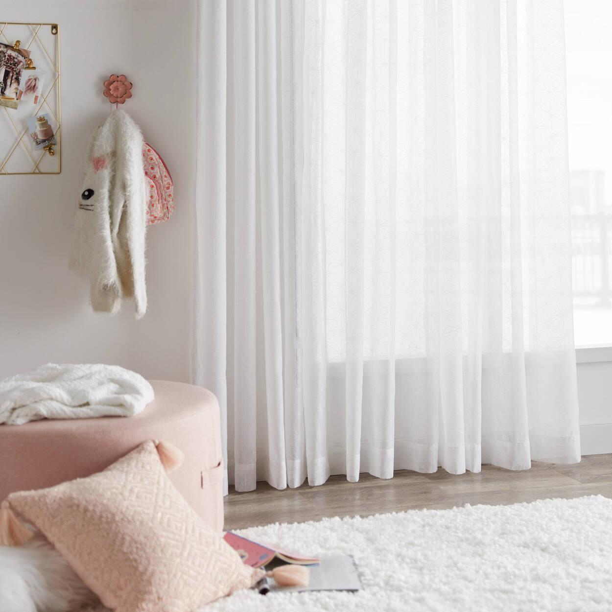 Flocon Sheer Curtain