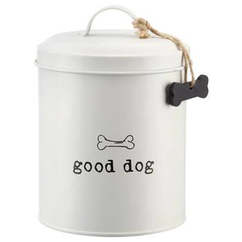 Pot pour chien en métal