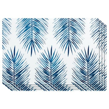 Set of 4 PVC Leaves Placemats