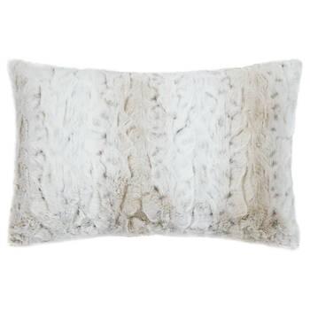 """Lynx Faux Fur Decorative Lumbar Pillow 14"""" x 22"""""""