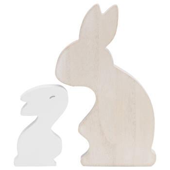 Decorative Wooden Rabbits