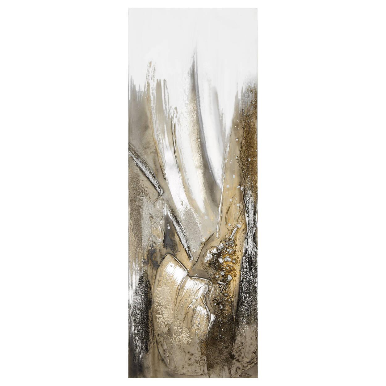 Tableau abstrait à texture dense peint à l'huile