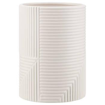 Vase moderne à rayures texturées