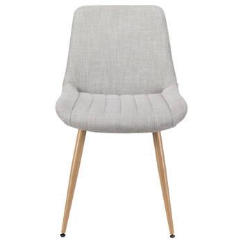 Chaise de salle à manger en tissu et en bois