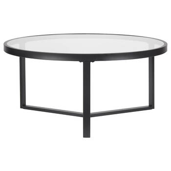 Coffee Table.Glass And Metal Coffee Table