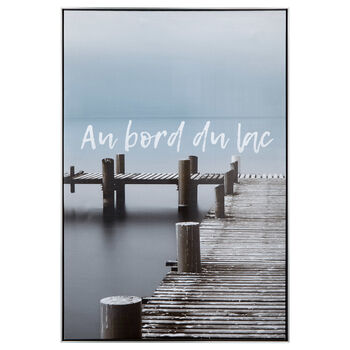 Au Bord du Lac Printed Framed Art