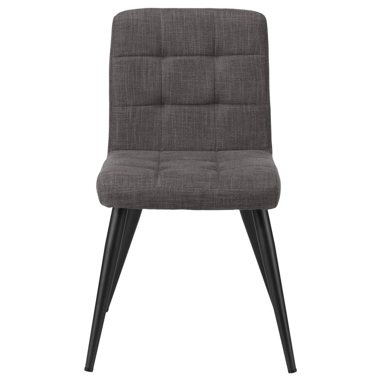 Tufted Fabric and Metal Dining Chair