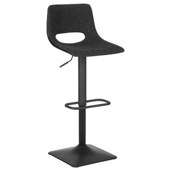 Fabric and Metal Adjustable Bar Stool