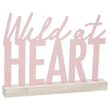 Decorative Plaque Wild at Heart