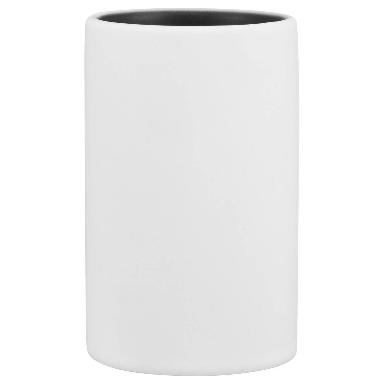 Rubber Coated Black and White Tumbler