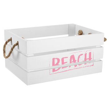 Small Beach Wooden Crate