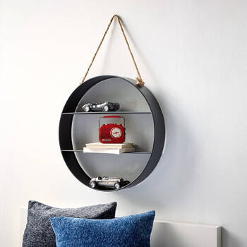Round Hanging Metal Shelf