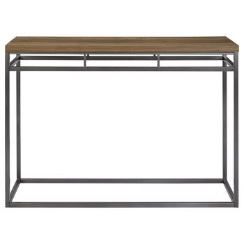 Metal and Veneer Console Table