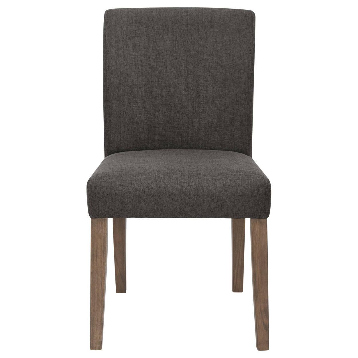 Chaise de salle à manger en tissu et en bois d'hévéa avec siège et dossier séparés