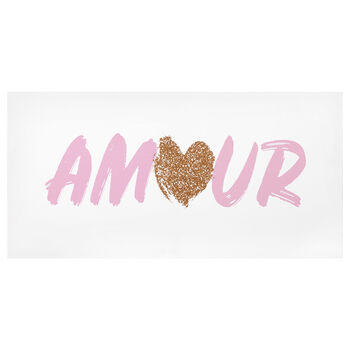 Amour Foil Typography Canvas