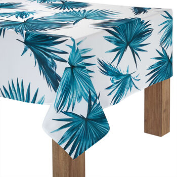 "Palm Leaves Tablecloth 60"" X 84"""