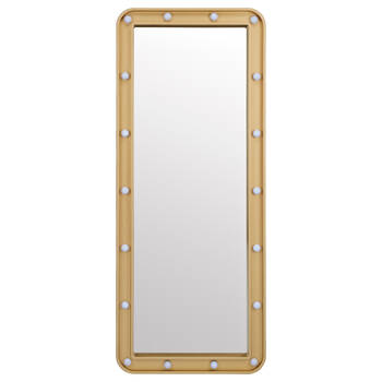 Gold Mirror with Light Bulbs