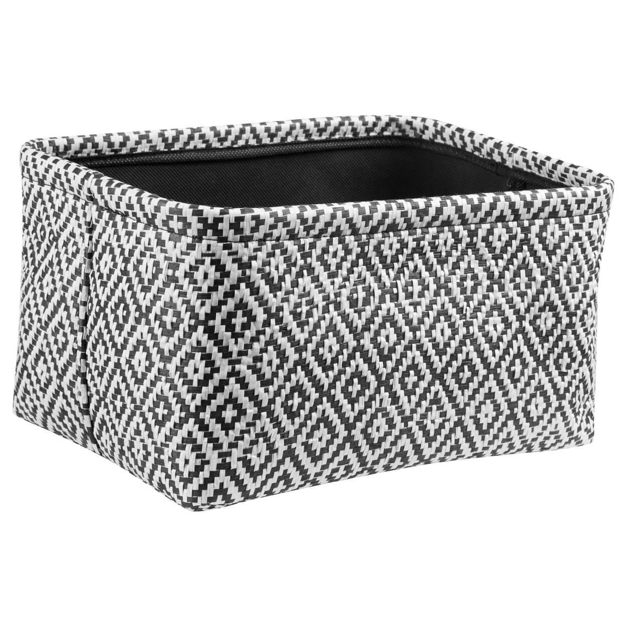Black and White Storage Basket