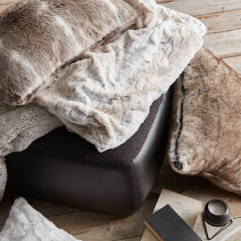 "Lynx Faux Fur Throw 50"" x 60"""