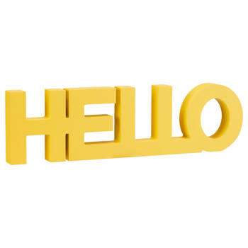 Decorative Word Hello