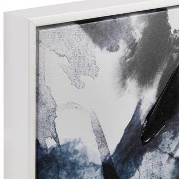 Framed Printed Canvas with Gel-Embellishment