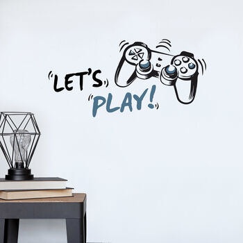 Autocollant mural Let's Play