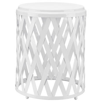 Lattice Pattern Metal Stool