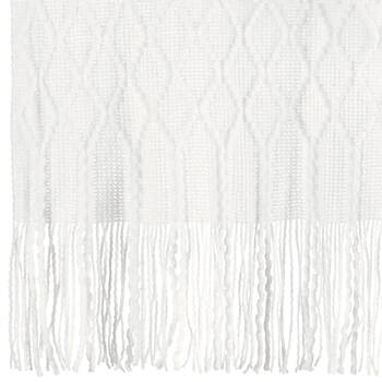 """Fancy Patterned Throw with Tassels 50"""" X 60"""""""