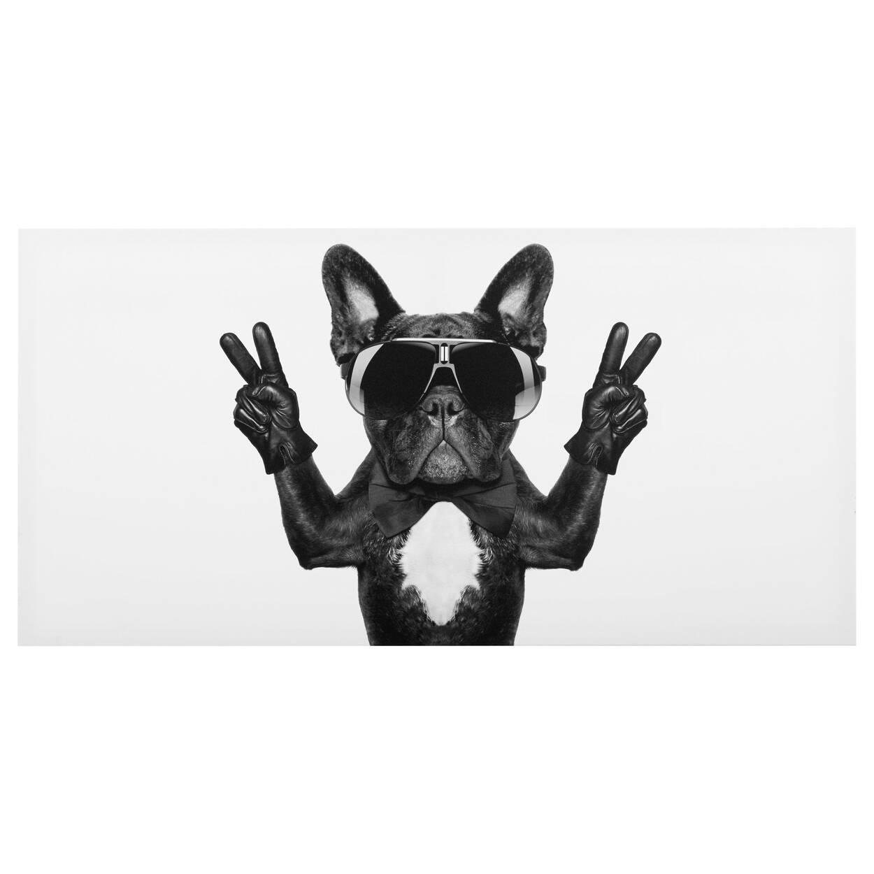 Peace Bulldog Canvas