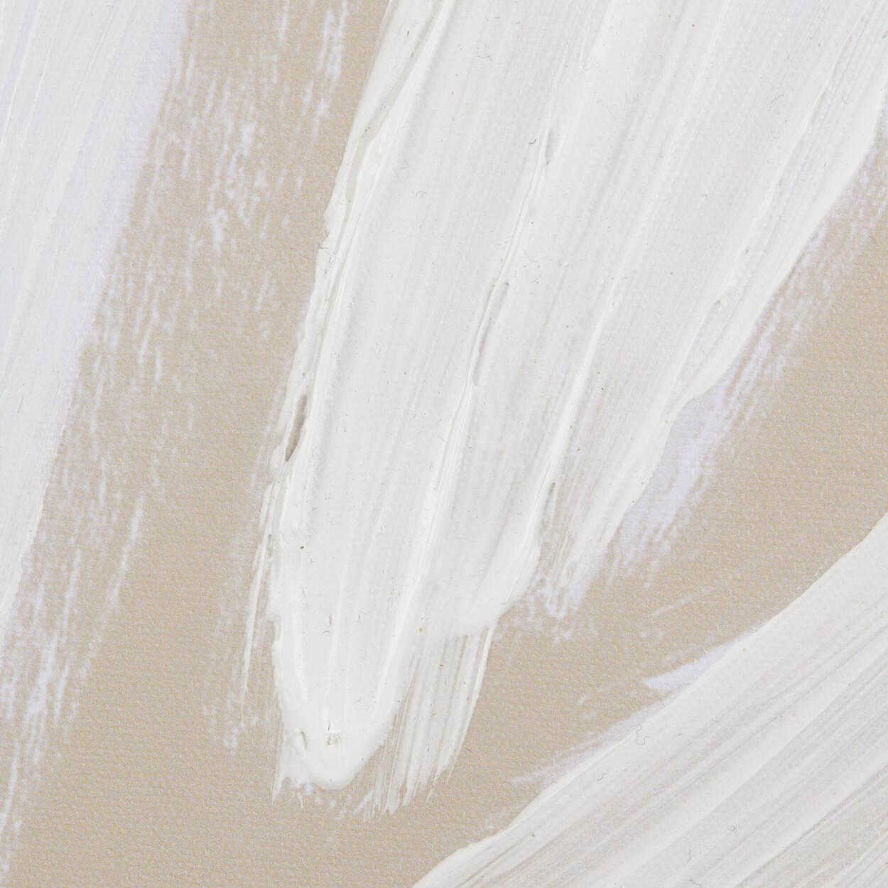 Neutral Palm Leaf Printed Canvas with Gel Embellishments