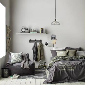 Black and Grey Camo Rug