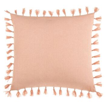"""Siesta Decorative Pillow with Pom-Poms 18"""" X 18"""""""