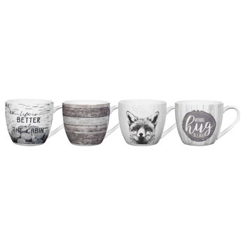 Set of 4 Cottage Mugs