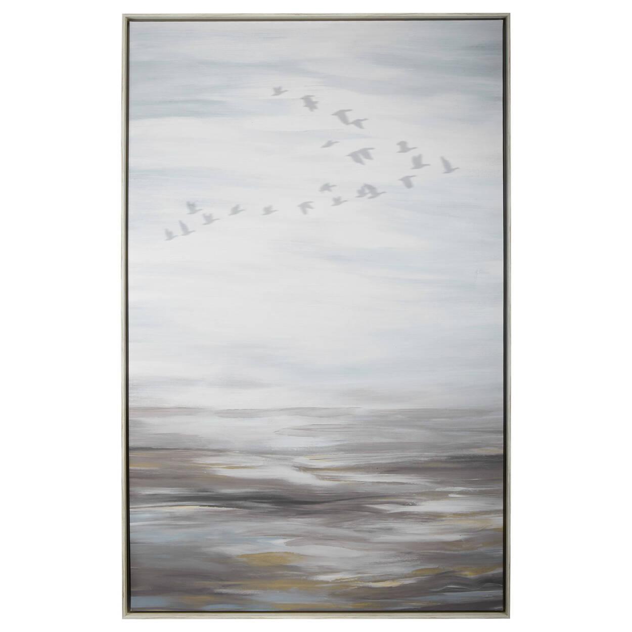 Oversized Printed & Painted Bird Framed Art | Bouclair.com