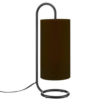 Metal and Fabric Table Lamp