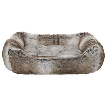 Wolf Faux Fur Pet Bed