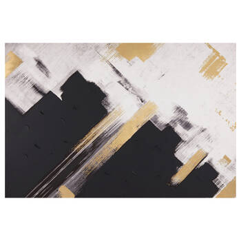 Black & Gold Abstract Oil Painted Canvas