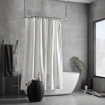 Geo-Lined Shower Curtain